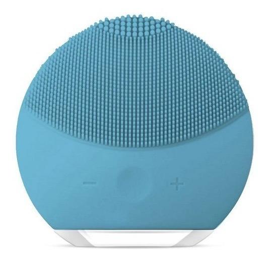 Escova Esponja Limpeza Facial Azul Massageador Elétrico