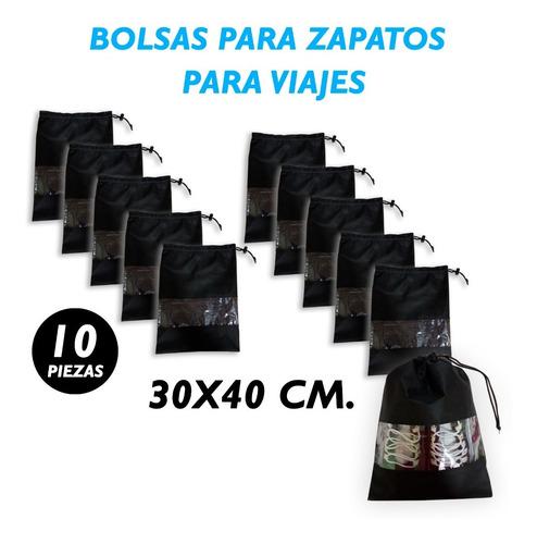 Imagen 1 de 2 de Bolsa De Viaje Para Zapatos, Cubre Polvo, 10 Pz. De 30x40 Cm
