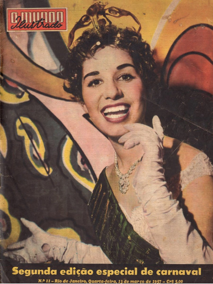 Mundo Ilustrado 1957 Vedetes Carnaval Escolas Samba Momo