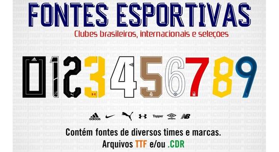 Pacote De Fontes De Times - Br, Inter E Seleções