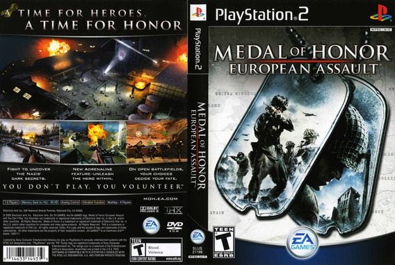Medal Of Honor European Assault - Ps2 - Patch