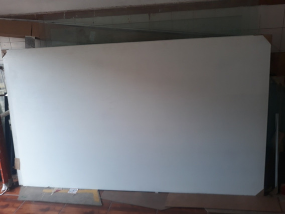 Vidro Extra Clear Pintado Branco 8mm Temperado 2555x1500