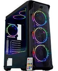 Gabinete Gamer K-mex Cg-01b1 Dark Trooper Led Rgb