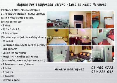 Alquilo Casa En Punta Hermosa