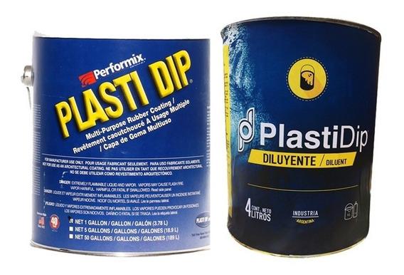 Pintura Removible Plasti Dip Auto Chico Galon + Diluyente Color A Elección Gamas Negros Y Marrones