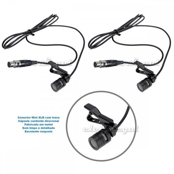 Microfone De Lapela Com Conector Mini Xlr