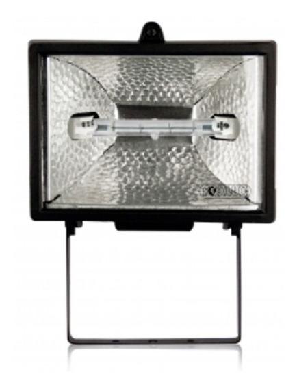 Refletor Halógena Preto 300w / 500w