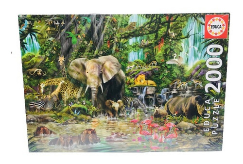 Puzzle Jungla Africana X 2000 Piezas Educa It2 16013 Ellobo
