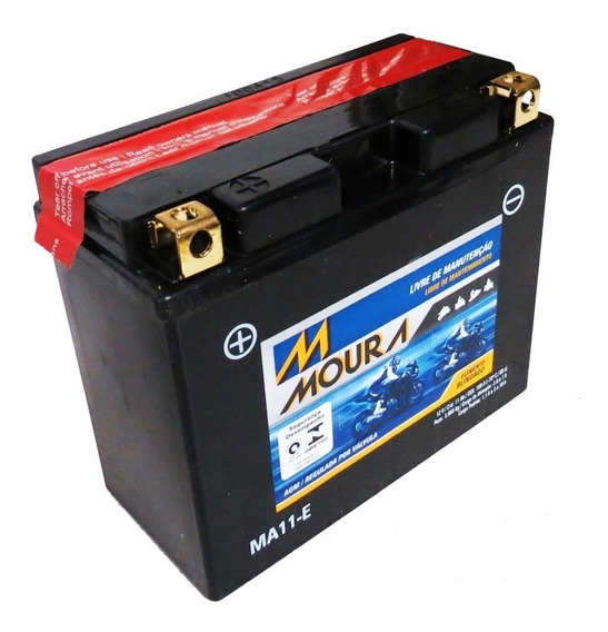Bateria Moto Ma11-e Moura 11ah Yamaha Raider Stratoliner Xj6
