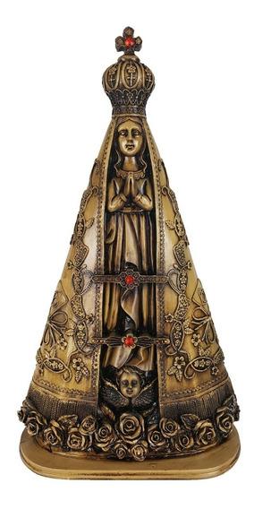 Enfeite Nossa Senhora Aparecida Betume Imagem Resina 60cm