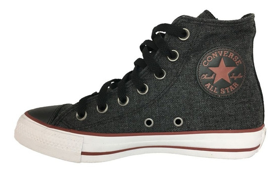 Tênis Converse All Star - Casual - Preto E Vinho - Ct0435