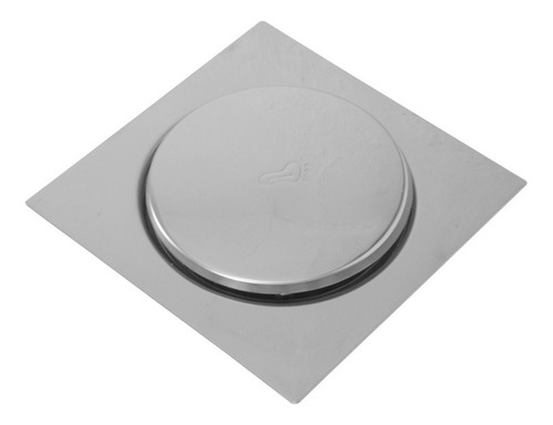 Ralo Inteligente Click P/ Banheiro Quadrado15x15 Veda Cheiro
