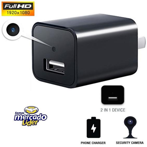 Câmera Espiã Espião Carregador Usb + 16gb 1080p Com Audio