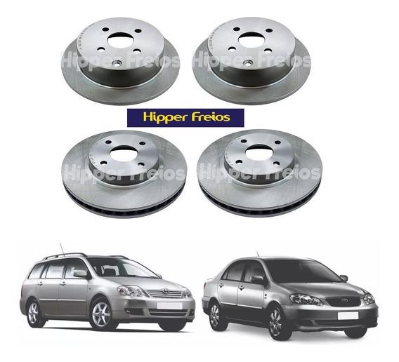 4 Discos De Freio Hipper Freios Corolla Fielder 2003 A 2008