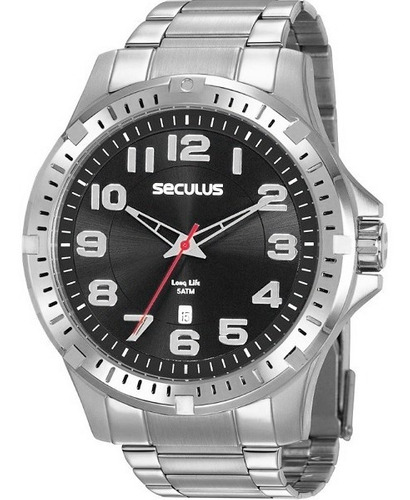 Relógio Seculus Masculino Analógico Prata Original Garantia