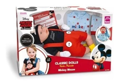 Boneco Mickey Mouse - Classic Dolls Recém Nascido - Roma