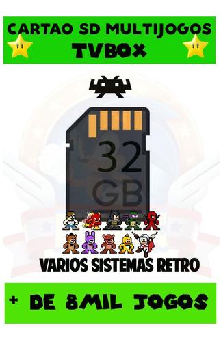 Imagem 1 de 8 de Cartão Sd Multijogos Pra Qualquer Tv Box + De 8mil Jogos