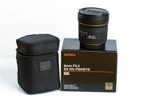 Lente Sigma 8mm F/3.5 Ex Dg Fisheye For Canon