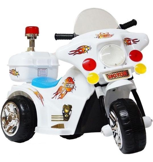 Mini Moto Eletrica Infantil Triciclo 6v Bateria Luzes Som