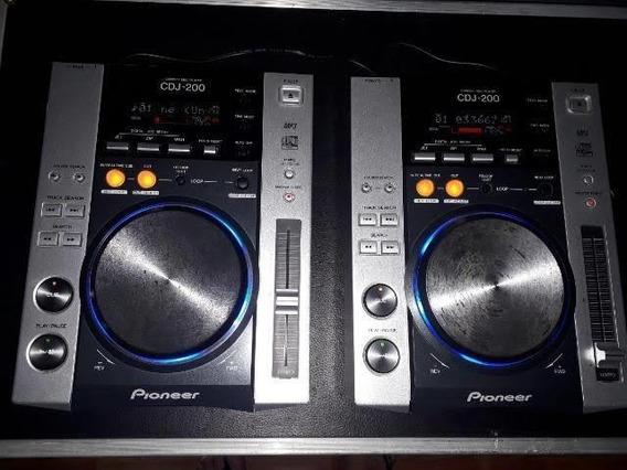 Par Cdj Pioneer 200 + Mixer Behringer Djx 750 + Case