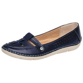 Zapatos Confort Oxford Casual Niñas Azul Zoe Piel Udt 36076