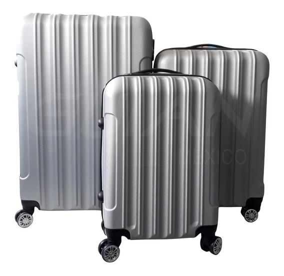 3 Maletas Rigidas De Viaje Con Candado Seguridad Llanta 360