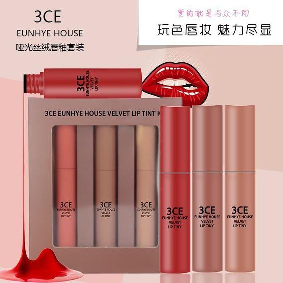 3ce Eunhye House Veludo Fosco Batom Gloss Labial Set