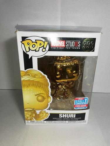 Figura Funko Pop 2018 Marvel Studios Shuri Dorada 393 Nycc