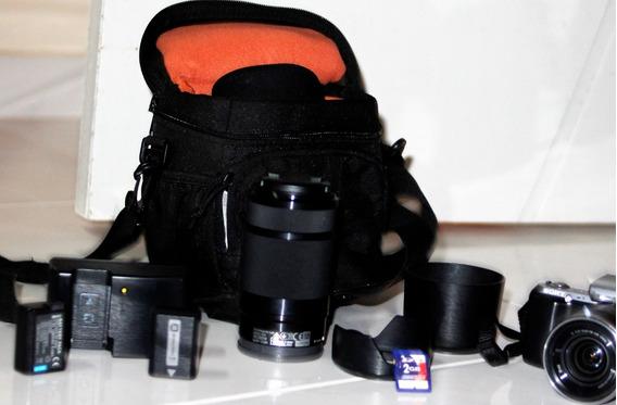 Câmera Digital Sony Alpha Nex-c3 Preta C/ 16,2mp, Lcd 3 , Le