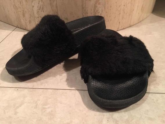 Sandalias Cholas Zapatos Peludas Moda Steve Madde Niñas
