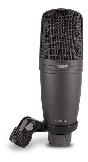 Microfone Condensador Usb Novik Fnk 02u Com Nota Fiscal