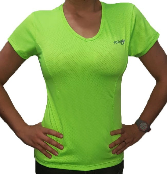 Remera Deportiva Dry Fit Mujer Talles 1 Al 5