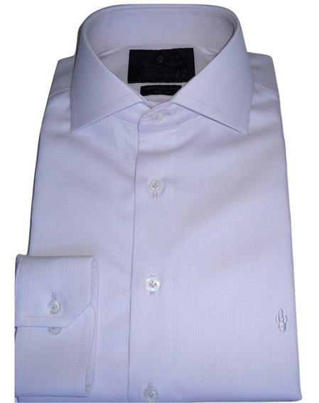 Camisa Masculina Colarinho Italiano Luxo