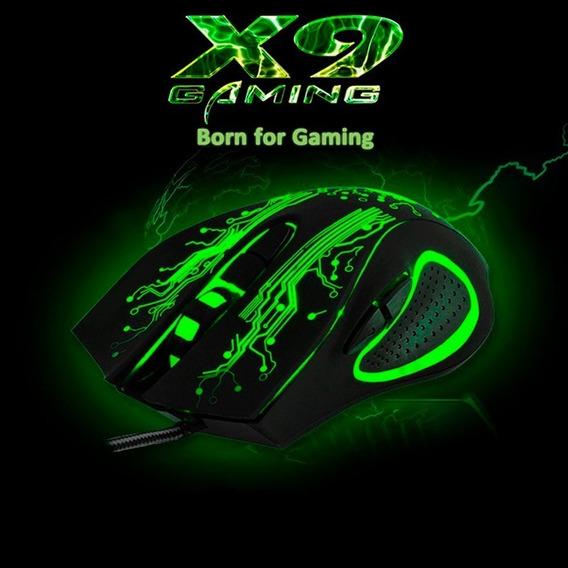 Mouse Gamer X9 Iluminação Rgb Com Fio 3200dpi Ps4 Pc Xbox Tv