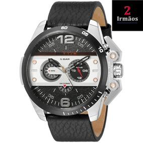 Relógio Diesel De Couro Ironside Cronógrafo Dz4361
