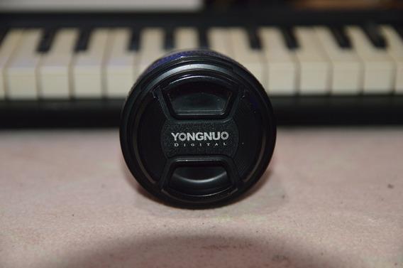 Lente Yongnuo Yn 50mm 1.8 Para Nikon Usada Bem Conservada