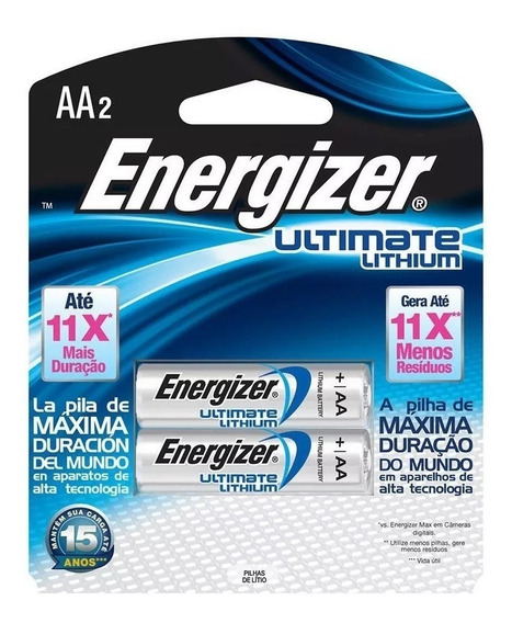 2 - Pilha Aa2 1.5v Lithium Litio Energizer Ultimate