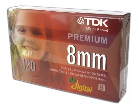 Fita Vídeo 8mm De 120 Minutos Premium Tdk Mp120 Original 6un