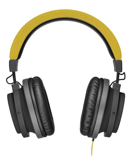 Fone De Ouvido Aux P2 Large Amarelo Pulse
