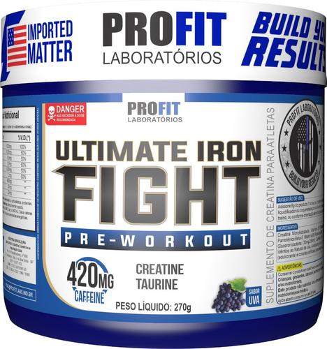 Imagem 1 de 4 de Pré-treino Ultimate Iron Fight 270gr - Profit Labs