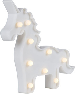 Figura Lumínica Luz Led Decoracion Unicornio Velador Unilux