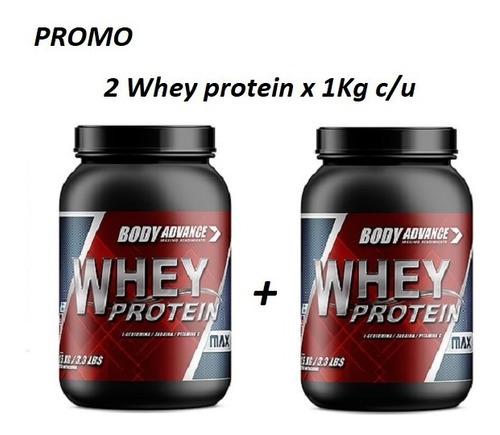 2 Whey Protein 1 Kg C/u. Proteína Pura. Body Advance