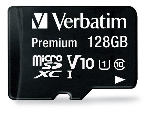 Imagen 1 de 2 de Tarjeta de memoria Verbatim 44085  Premium con adaptador SD 128GB