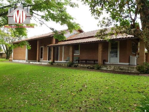 Imagem 1 de 28 de Excelente Chácara Com 3 Dormitórios Em Bairro Tranquilo E Seguro, Com Bela Vista, À Venda, 3000 M² Por R$ 650.000 - Zona Rural - Pinhalzinho/sp - Ch0699