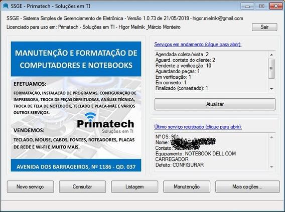 Sistema Para Loja De Informática Eletrônica Ordem De Serviço