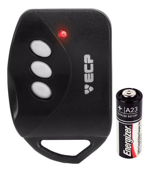 Controle Remoto Ecp Portão Alarme Casa 433mhz 3 Botões Key