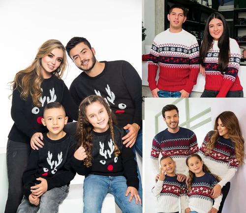 Saco Suéter Tejido Navidad Familia Buso Navideño Mamá Papá