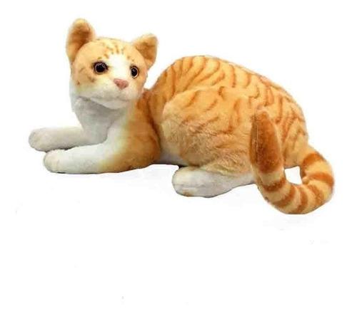 Imagem 1 de 2 de Pelúcia Gato Amarelo Rajado 40cm Fizzy