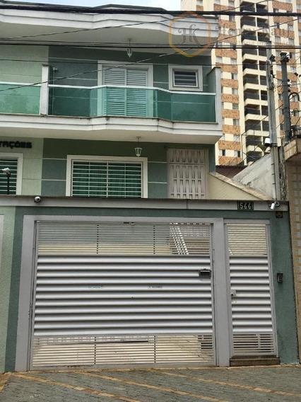 Ótimo Sobrado Com 3 Suítes, 4 Vagas E Aquecimento Solar, Vila Formosa, São Paulo. - So0062