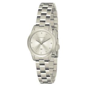 Relógio Lince Feminino Aço Prata Strass Lrm4435l S1sx